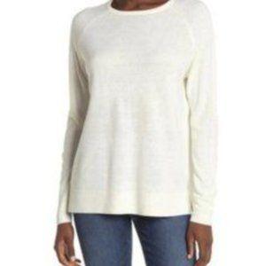 Sweet Romeo Knit Sweater Top Ivory Medium